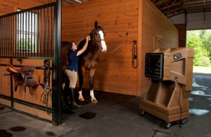Port-o-Cool in horse barn of Amanda Clingan